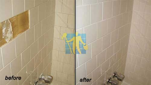 repair cracked tiles before and after in bathroom Bayside