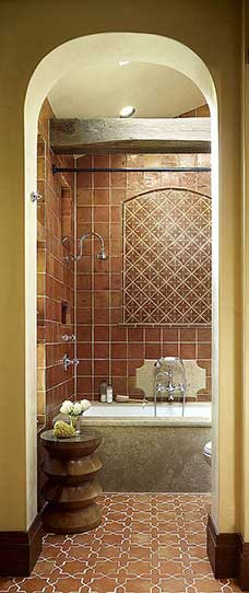 terracotta tiles in bathroom beautiful style
