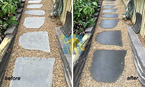 bluestone tile Steppers Before and After cleaning