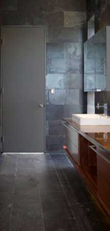 Elegant Black Granite Bathroom Interior