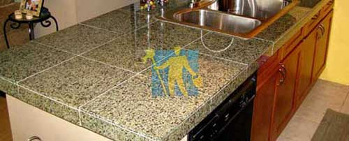 Rgranite tile countertops cleaned after repairing