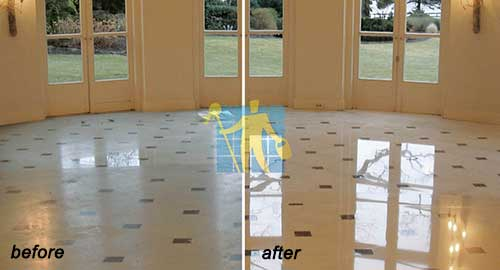 floor marble tile before and after cleaning repairingeMelbourne
