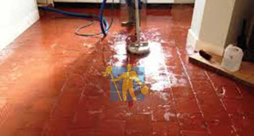 quarry tile during cleaning and repairing