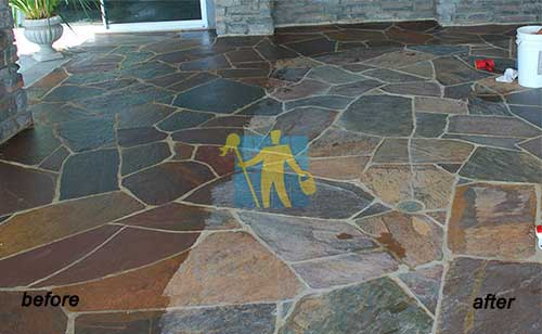repair slate tile before and after be cleaned beautifull