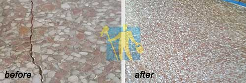 repair terrazzo tile before and after