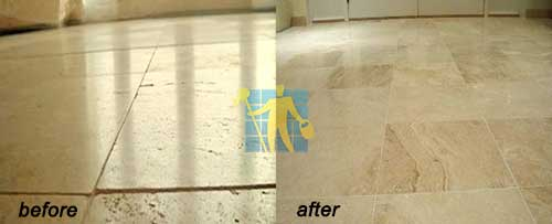 travertine before and after repairing cleaning
