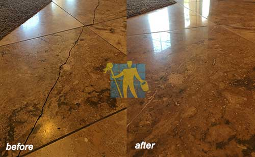 travertine before and after repairing