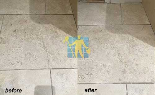 travertine kitchen floor cracked tile before and after